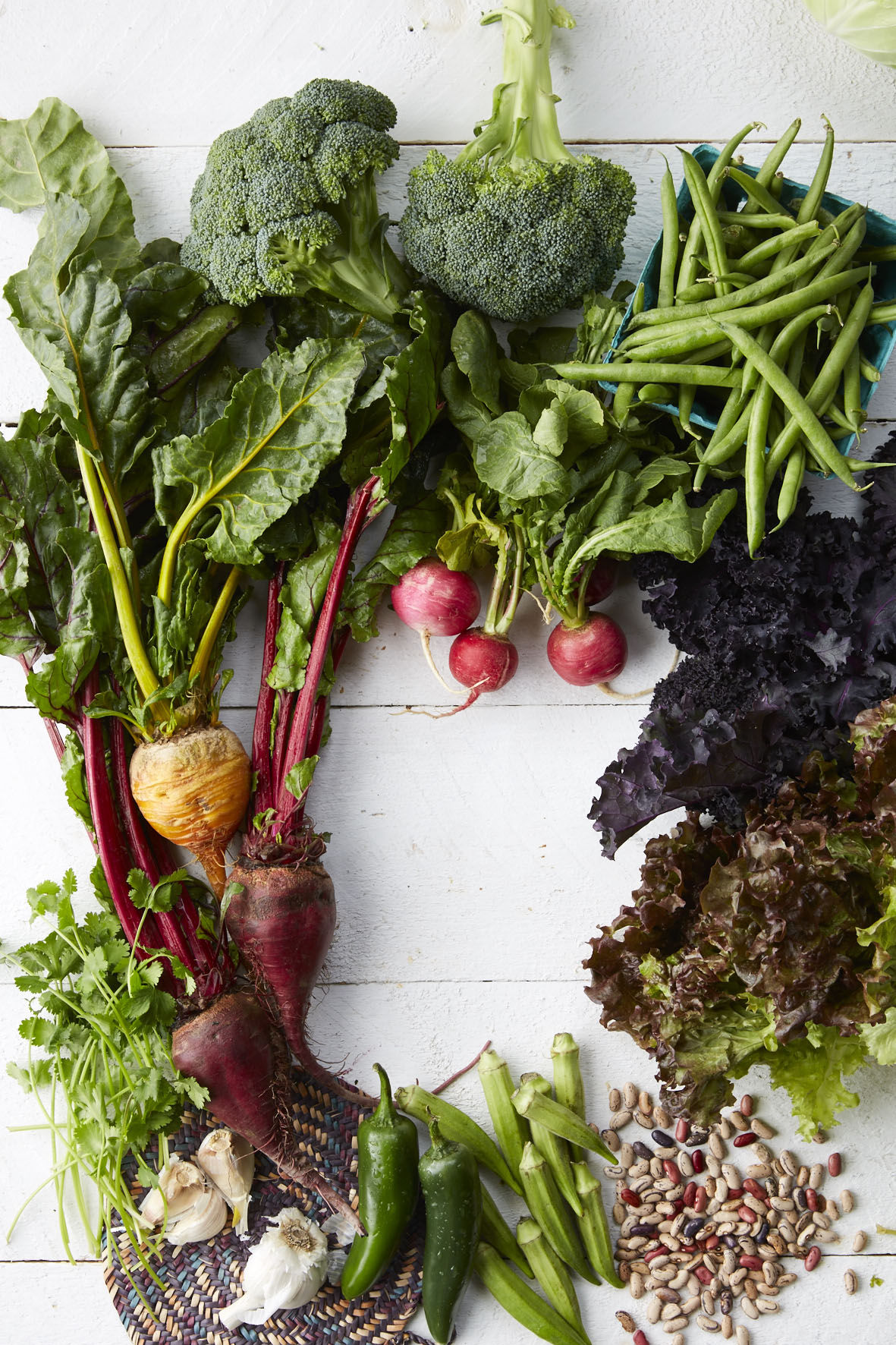 Abundant box of vegetables from the Global Greens CSA in Des Moines.